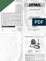 Aspiradora Atma As8912E-Manual Escaneado