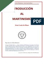 Jean Louis de Biase Introduccion Al Martinismo