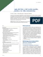 Fisiología Del Feto y Del Recién Nacido. Adaptación a La Vida Extrauterina