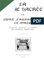 La Magie Sacrée D'Abramelain Le Mage