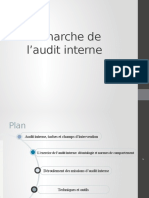 Démarche de l'Audit Interne