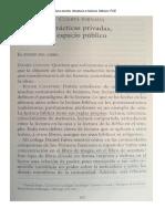 Chartier. Prácticas Privadas, Espacio Público