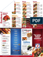 menu chicken food