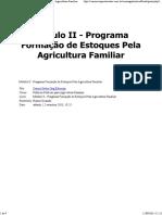 Módulo II - Programa Formação de Estoques Pela Agricultura Familiar