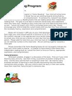 home reading program letter term 1