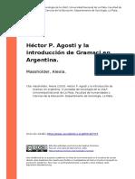 Massholder, Alexia (2010). Hector P. Agosti y la introduccion de Gramsci en Argentina(1).pdf
