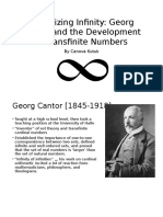 Actualizing Infinity Georg Cantor