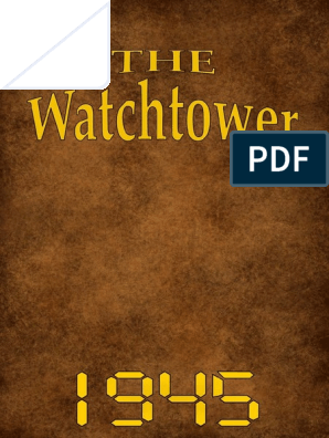 The Watchtower - 1945 issues | John The Baptist | Jesus