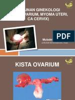Myoma, CA Cervix, Ovarian Cysta Ovari