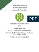 Universidad de ColimaMemoriaDeLa3Parcial