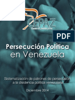 Informe Final Persecución Política en Venezuela