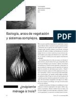 Ecologia Arcos de Vegetacion Y Sistemas Complejos