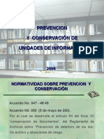 Prevencion y Conservacion de Documentos