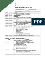 ICATT Sample Training Program of Activities