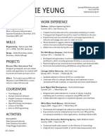 One Page Resume Examplepdf