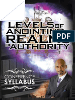Levels of Anointing . . . Realm - Tudor Bismark