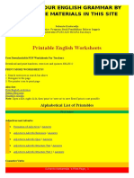 Improve Your English Grammar by Using the Materials in This Site