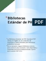 Bibliotecas Estándar de PHP