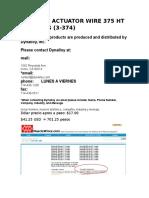 Flexinol Actuator Wire 375 Ht 5 Metros