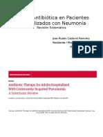 Neumonía Adquirida en Cominudad y Antibióticos JAMA 2016