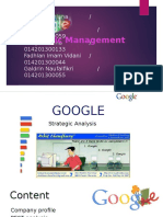 Google strategy management