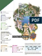 Islands of Adventure Mapa Ingles Julho 2014