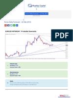 Forex Daily Forecast - 22 Feb 2016 BlueMax Capital