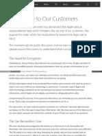 www apple com customer letter