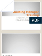 Building Manager Training