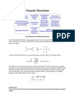 summary of organic reactions