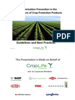 Contamination Prevention in the Manufacture of Crop Protection Products Detailed Version