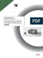 8954323 Manual 98548 Benchtop Peristaltic Dispenser 03-2009