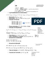 TEMA 2 FLuidos Formulas