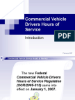 Recommended Hours of Service Presentation