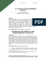 12. Sartre e a Tese Da Transcendência Do Ego - Renato Dos Santos Belo Usp