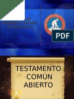 Testamento Comun Abierto