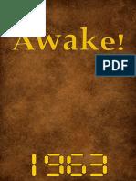 Awake! - 1963 issues