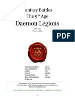 The Ninth Age Daemon Legions 0 11 1