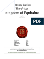 The Ninth Age Kingdom of Equitaine 0 11 0