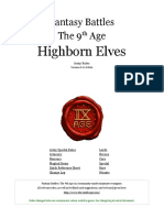 The Ninth Age Highborn Elves 0 11 0
