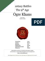 The Ninth Age Ogre Khans 0 11 0