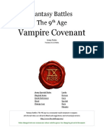 The Ninth Age Vampire Covenant 0 11 0