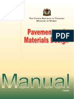 Pavement & Material Design,Tanzania