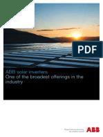 Abb Solar Inverters Brochure Bcb.00076 en Rev. d Lowres