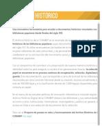Conabip-Archivo Histórico _ Conabip