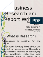 Business Research and Report Writing