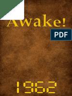 Awake! - 1962 issues
