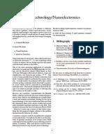 Nanotechnology Nanoelectronics