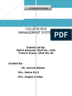 College Bus Final Report