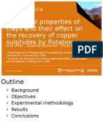 Structural Properties of Clays and Their Effect on the Recovery of Copper Sulphides by Flotation, Lina Uribe